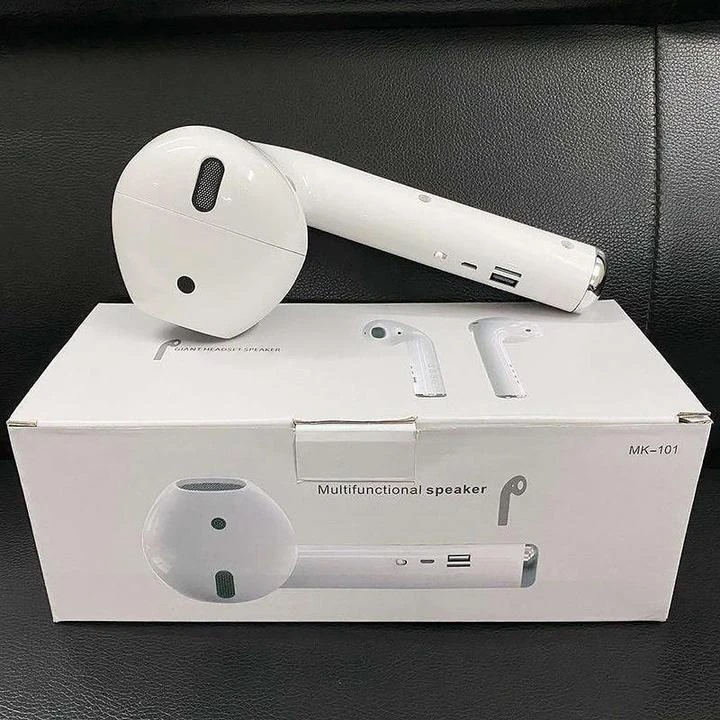 Bluetooth Speaker Portable Outdoor Loudspeaker Wireless Headset Shape Speaker for AirPods white