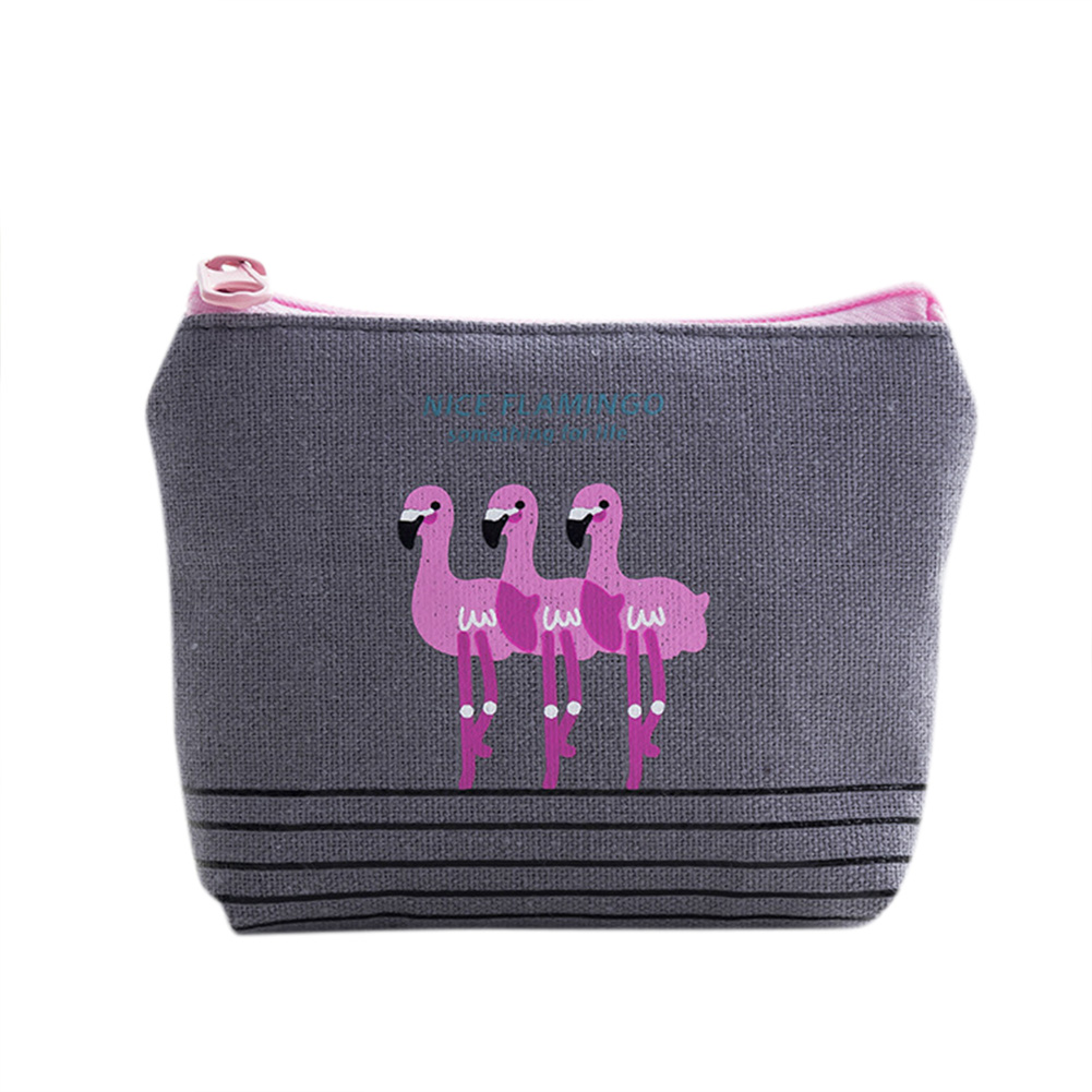 Women Girl Coin Purse Cute Flamingo