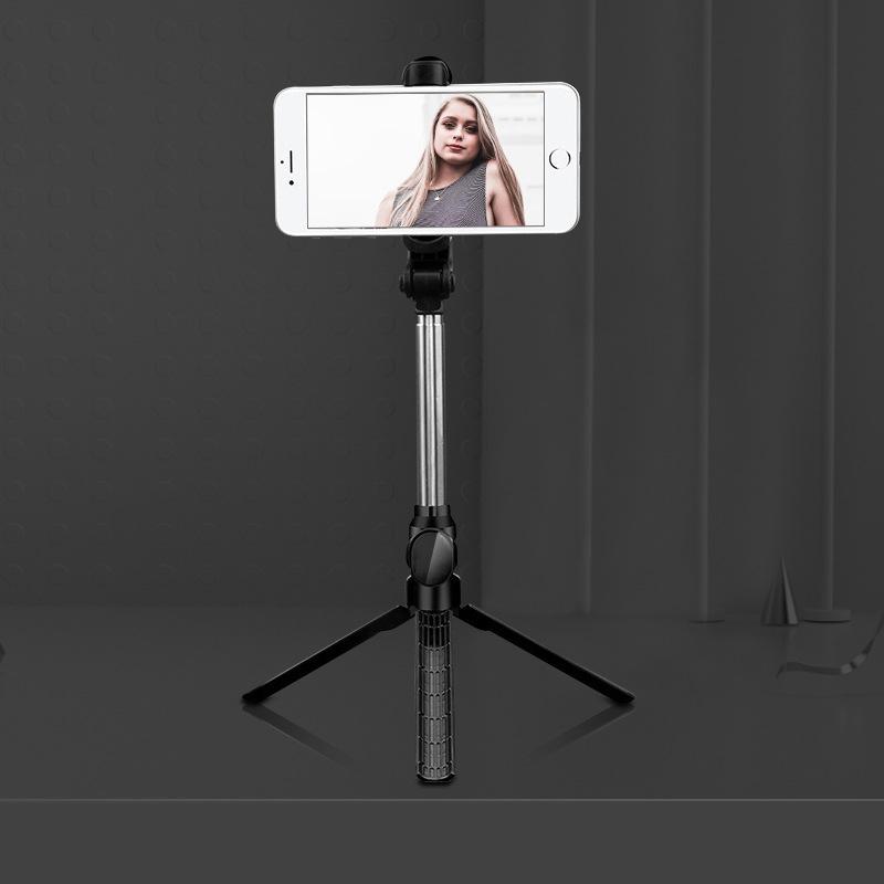 Xt10 Selfie Stick Wireless Bluetooth Selfie Stick Tripod With Remote Control Monopod Selfie Stick Shutter XT10 Selfie Stick-Black