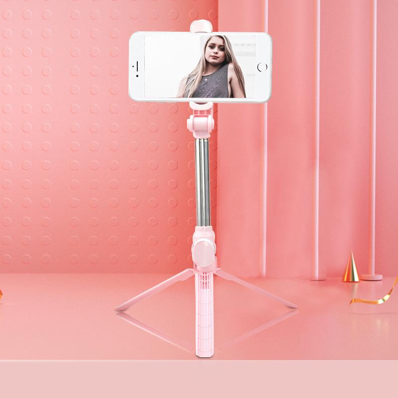 Xt10 Selfie Stick Wireless Bluetooth Selfie Stick Tripod With Remote Control Monopod Selfie Stick Shutter XT10 Selfie Stick-Pink