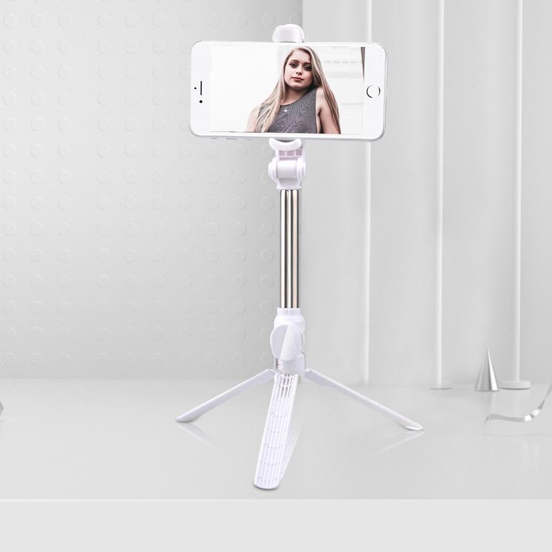 Xt10 Selfie Stick Wireless Bluetooth Selfie Stick Tripod With Remote Control Monopod Selfie Stick Shutter XT10 Selfie Stick-White