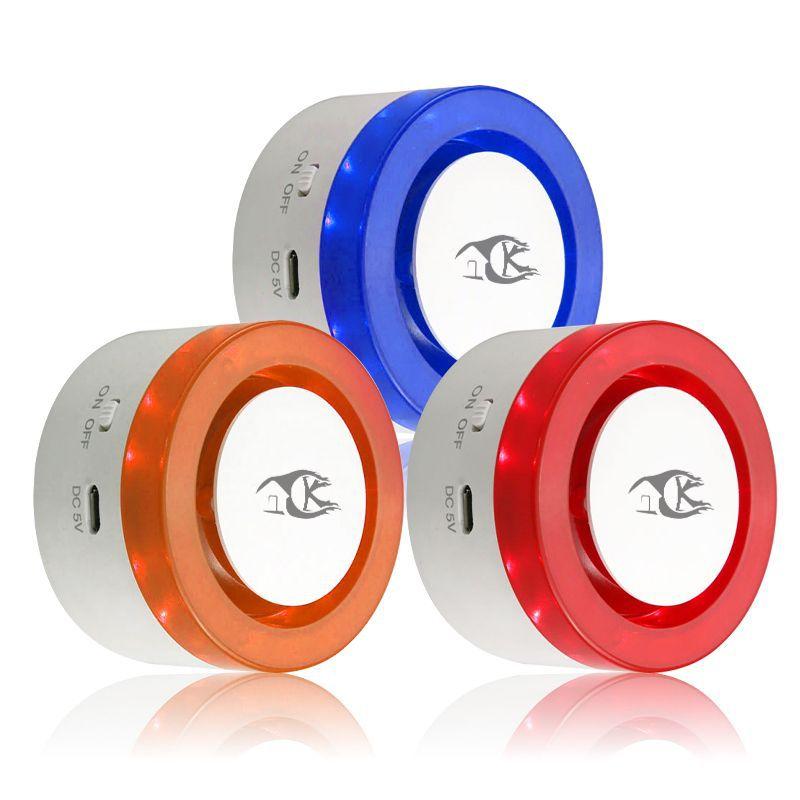 Wireless Announciator Alarm Smart Life App Control WIFI Sound Light blue