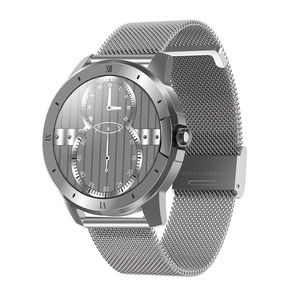 Mx12 Smart Watch Bluetooth Call Music Player Sports Bracelet Keep Health Smart Watch Silver dial silver steel belt