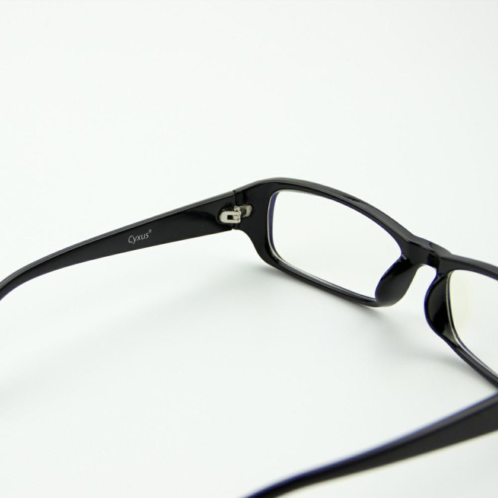 [US Direct] Cyxus Anti Blue Light Computer Glasses for Blocking UV Eye Strain Headache, Reading Eyewear (8065T01, Bright Black) Block Droplets Bright Black_M