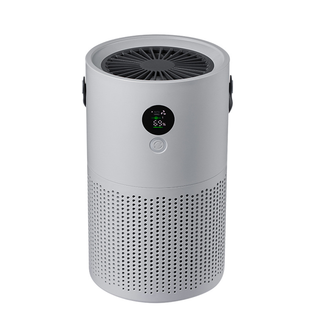 Air Purifier for Home Bedroom Office Compact Desktop Purifiers Air Cleaner  gray