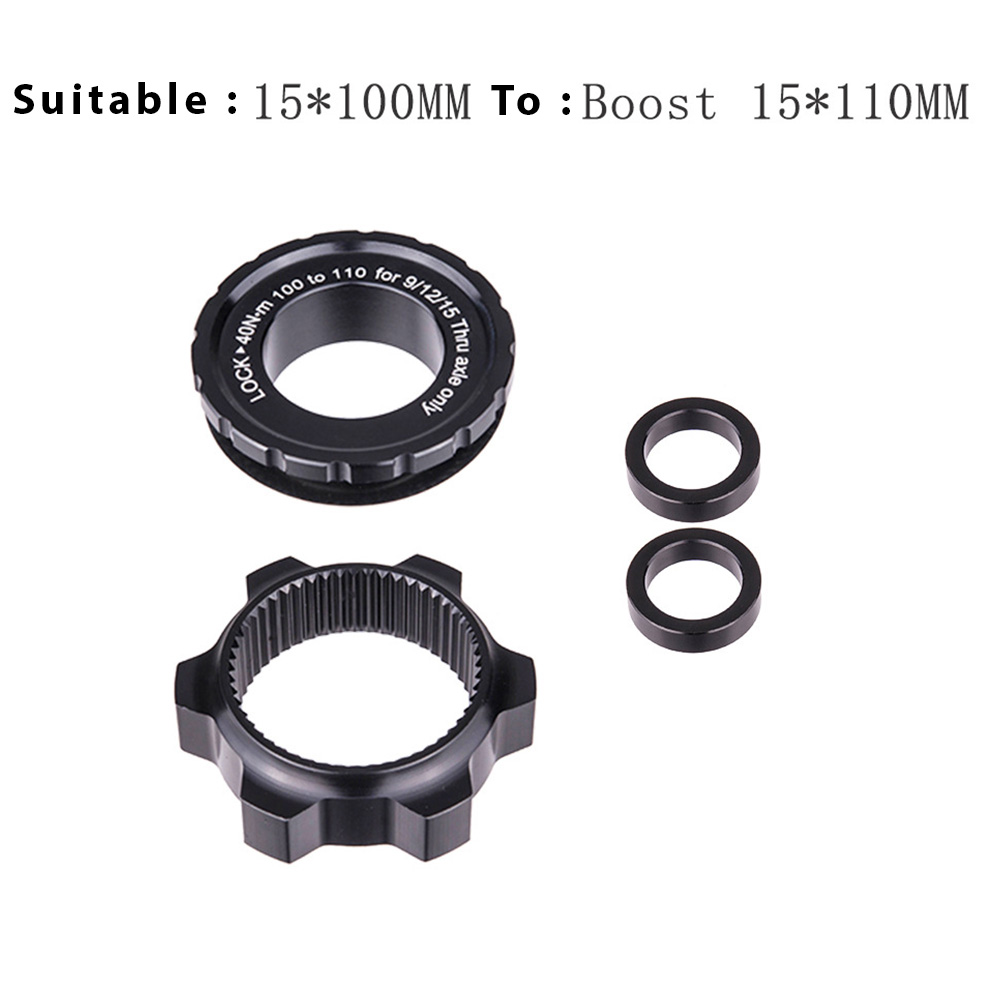 ZTTO Bicycle Hub Center Lock Adapter to 6 Bolt Disc Brake Boost Hub Spacer 15x100 to 15 x 110 Front Rear Washer 12x148 Thru Axle 15 * 100MM to 15 * 110MM