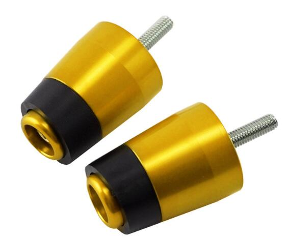 Motorcycle Handlebar Plugs Motorcycle Modification Balance Terminal for XMAX300 xmax300 17-18 Golden