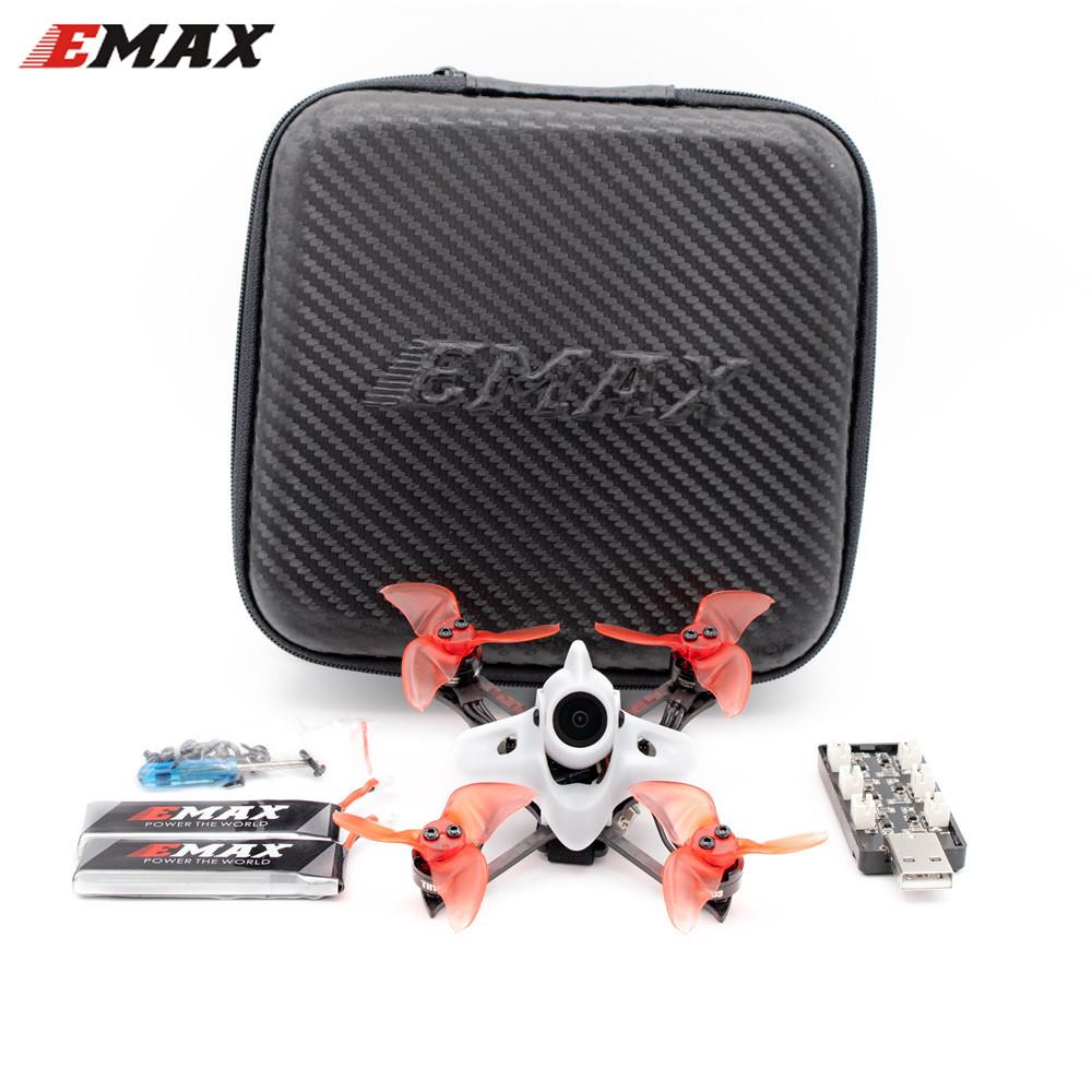 Emax Tinyhawk II Race BNF FPV Racing Drone F4 5A 7500KV RunCam Nano2 700TVL 37CH 25/100/200mW VTX 2S with Gift FPV white