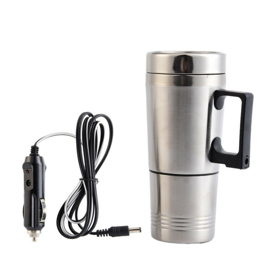 Cup Electric Kettle Steel Stainless Heating Car Tea Coffee Travel Maker Mug Pot 24V car electric cup