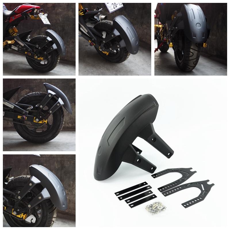 Plastic Motorcycle Rear Mudguard Splash Guard for MSX125 black
