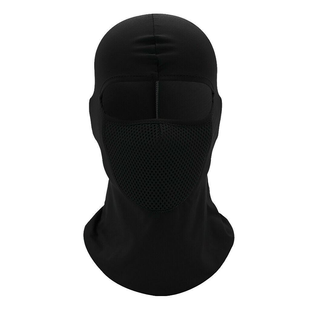 Outdoor Ski caps bike Motorcycle Cycling Balaclava Full Face Mask Neck  YS-E-01 black_One size