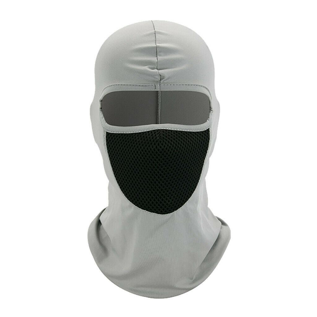 Outdoor Ski caps bike Motorcycle Cycling Balaclava Full Face Mask Neck  YS-E-03 light gray_One size