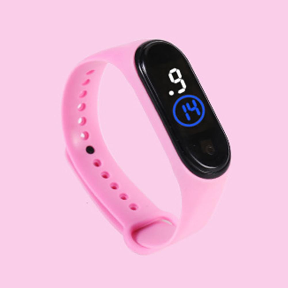 Waterproof M4 LED Muamaly Digital Watches Touch Control Sports Casual Stylish Boys Girls Watch Pink