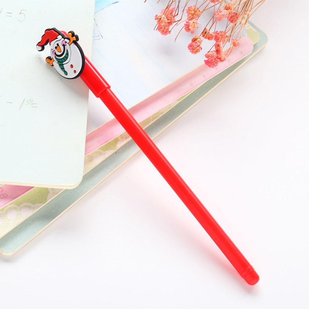 0.38mm Christmas Black Neutral Pen Cartoon Snowman Bear Sock House Deer Gel Pen red snowman_0.38mm