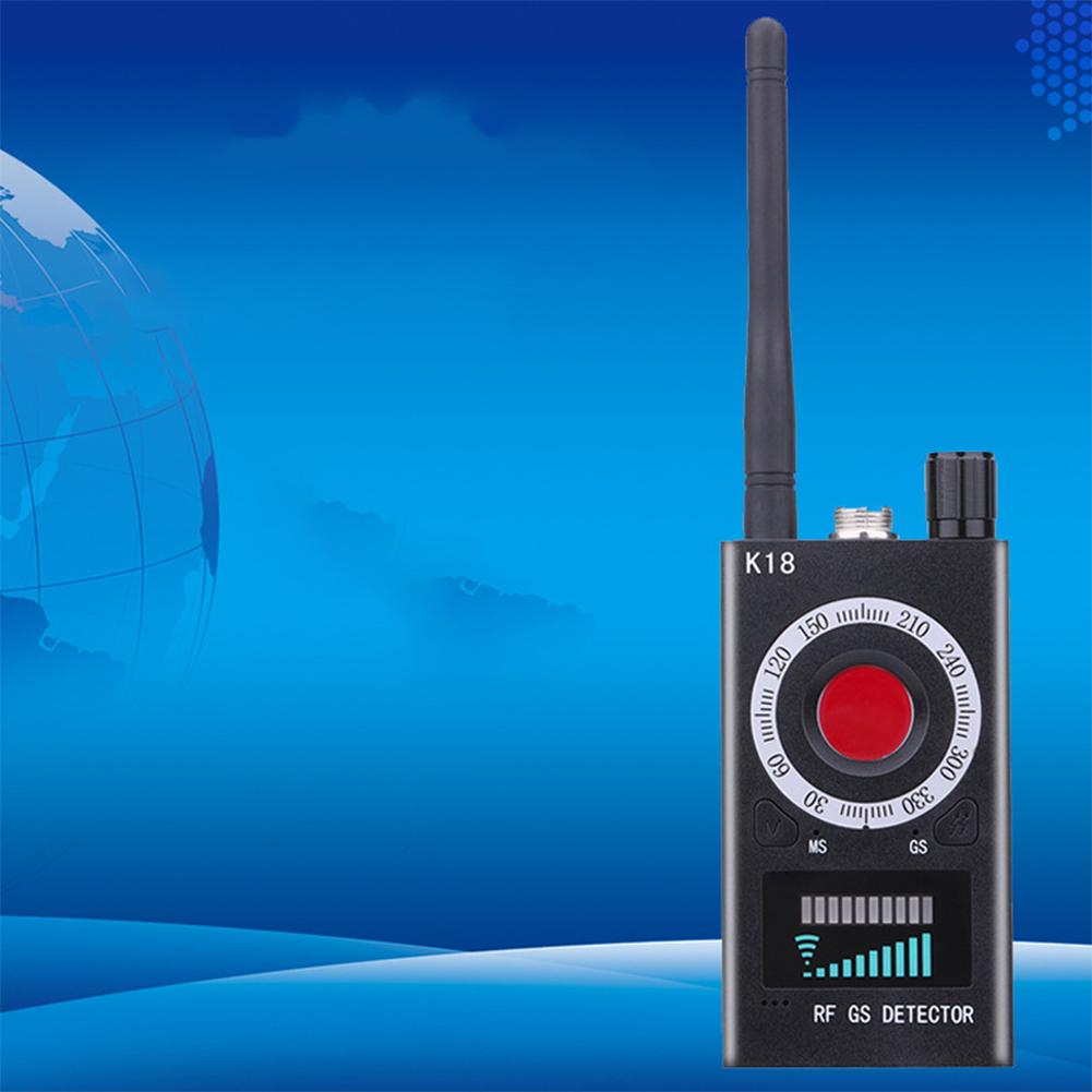 Signal Detector Anti-spy Detector K18 Camera Audio Bug GPS Signal Lens Tracker black