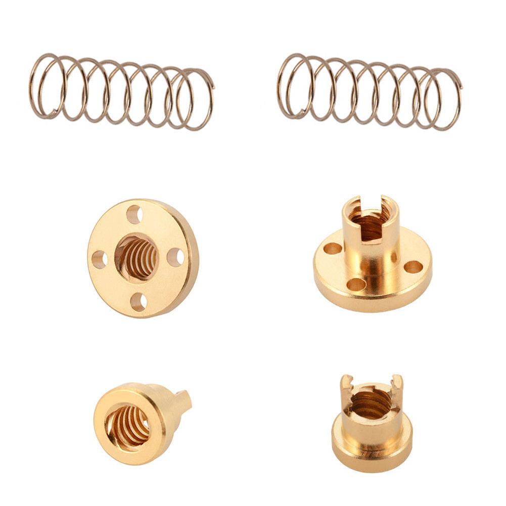 2 Pcs T8 Anti Backlash Spring Loaded Nut Elimination Gap Nut for 8mm Acme Threaded Rod Lead Screws  T8