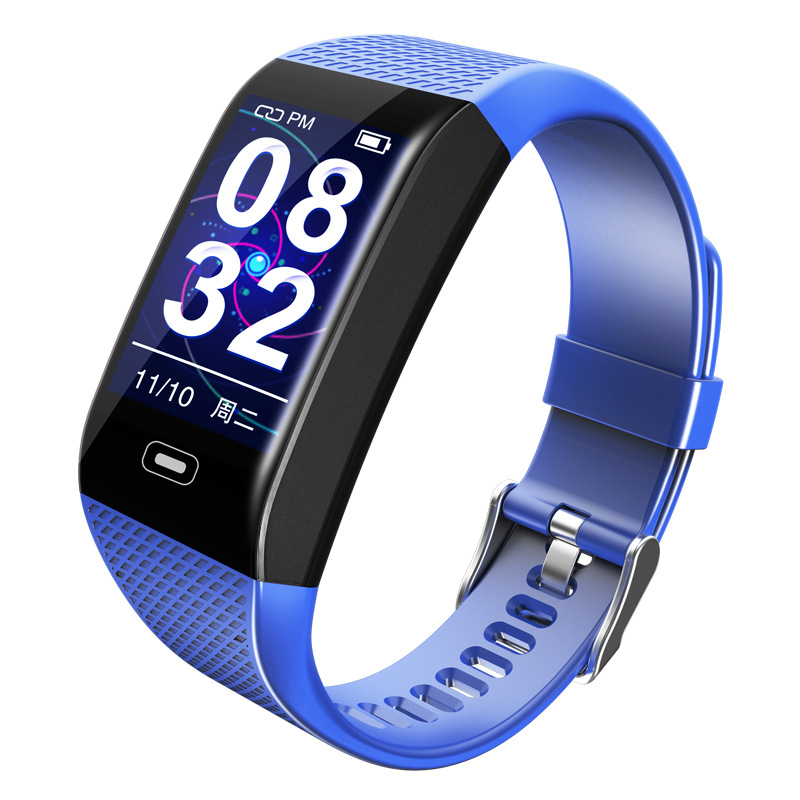 CK28 Smart Bracelet 1.14 Color Screen Heart Rate Blood Pressure Real-time Monitoring IP67 Waterproof blue