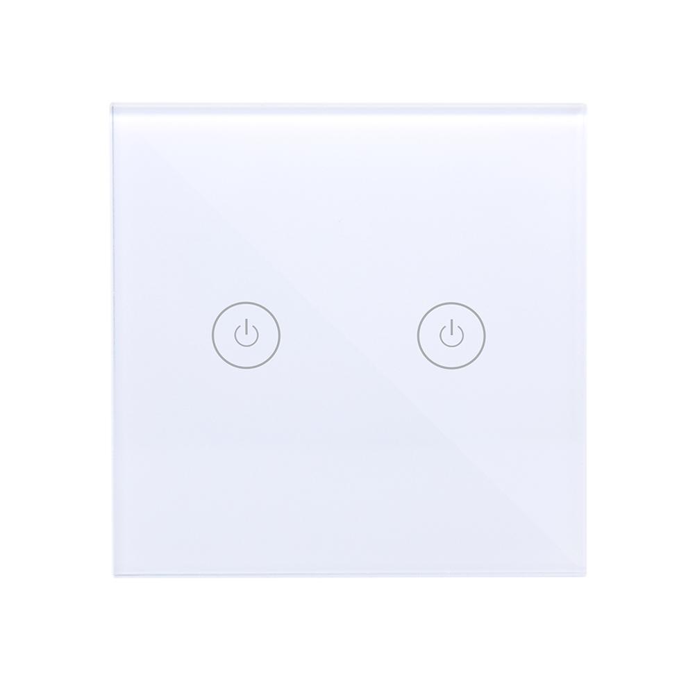 WIFI Intelligent Switch Voice Control Series Zero Fire Remote Control Touch Switch 1.2.3 white
