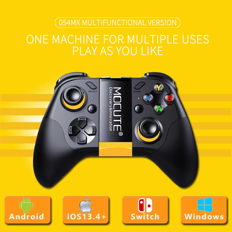 054MX Game handle Bluetooth Gamepad for Android IOS13.4 forNintendo Switch  black