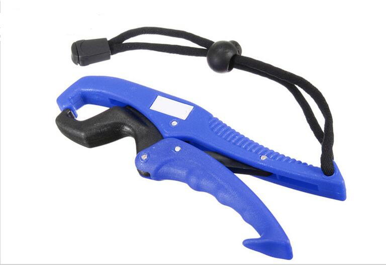 ABS Plastic Fish Grip Controller Clamp with Anti-lost Rope Fishing Lip Gripper Fishing Tools Accessories  blue_16cm