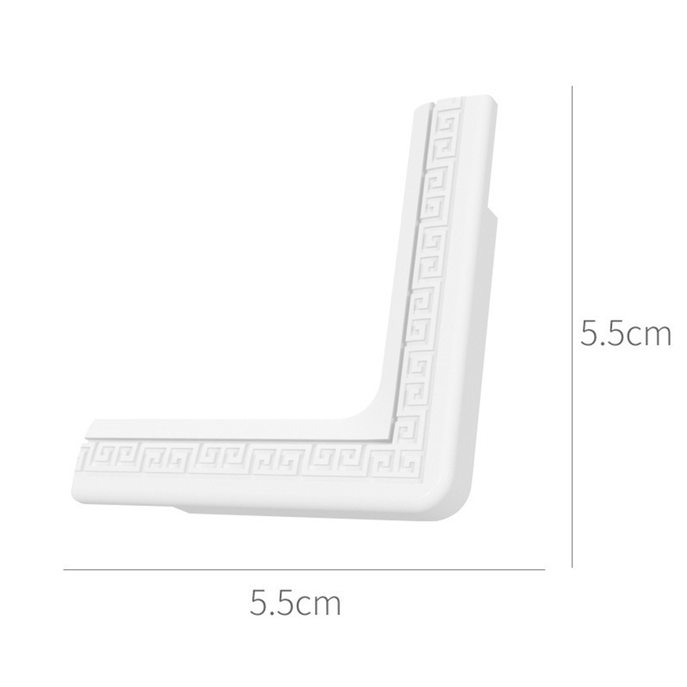 8PCS Chinese Style Anti-collision Cover Safety Corner Aluminum Alloy Steel Window Corner Cover Tempered Glass Frame Edge Cover white_1 pack of 8 prices