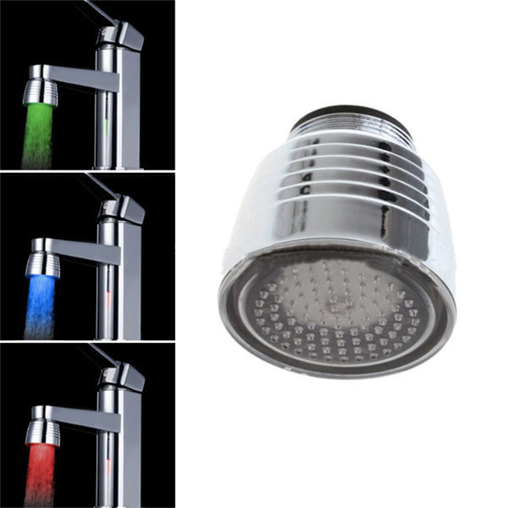 7 Colors Change Gradient Led Water Faucet  Light Water Stream Color Changing Faucet Tap For Kitchen Bathroom 7colors change