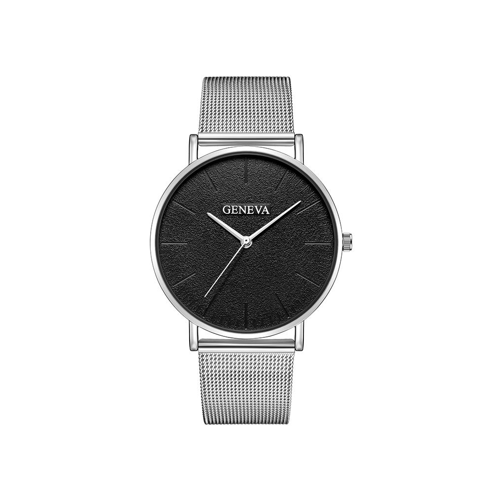 Fashion Lovers Womens Men Classic Concise Round Dial Quartz Wristwatch
