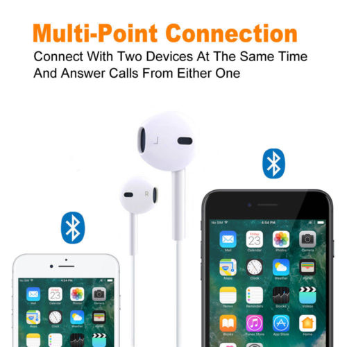 Wireless Bluetooth 4.2 Sport Headphone with Mic for iPhone Samsung White