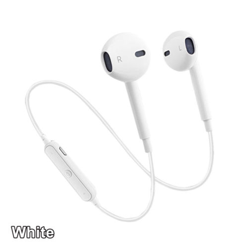 c489fa9f5fc Wireless Bluetooth 4.2 Sport Headphone with Mic for iPhone Samsung White