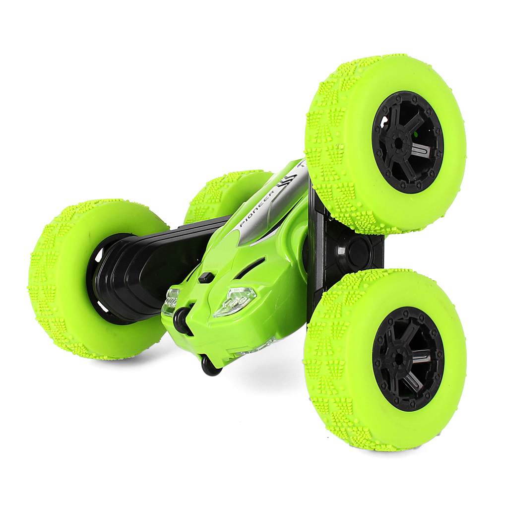 LH-C014S Racing Wireless Control Double Side Stunt Car 360 Degree Rotation Left/Right Rolling High Speed RC Car With Light Random Color