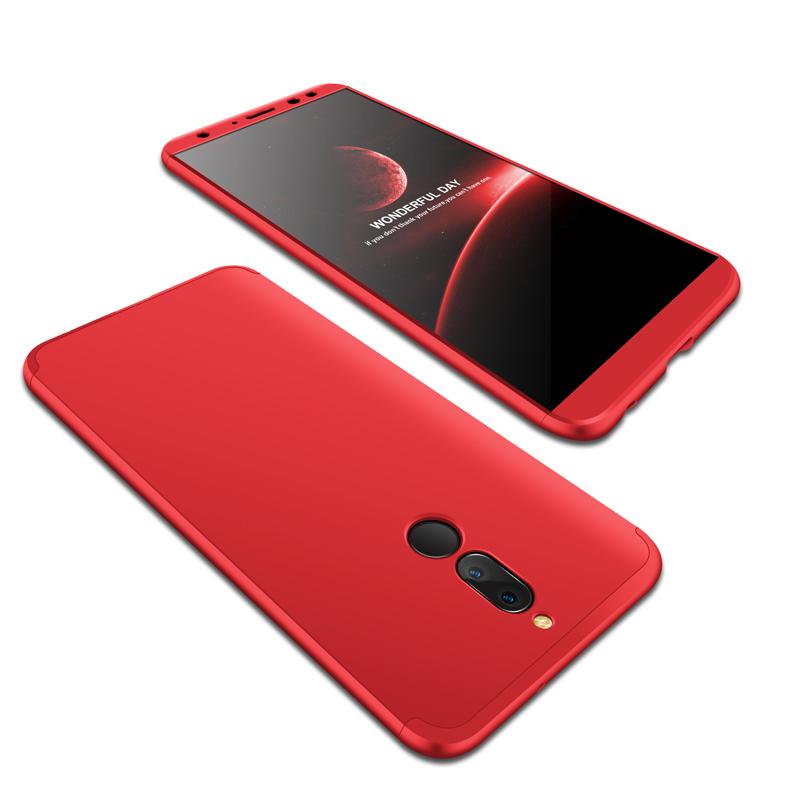 For HUAWEI MAIMANG 6/Mate 10 lite/Honor 9i(india)/Nova 2i Ultra Slim PC Back Cover Non-slip Shockproof 360 Degree Full Protective Case red