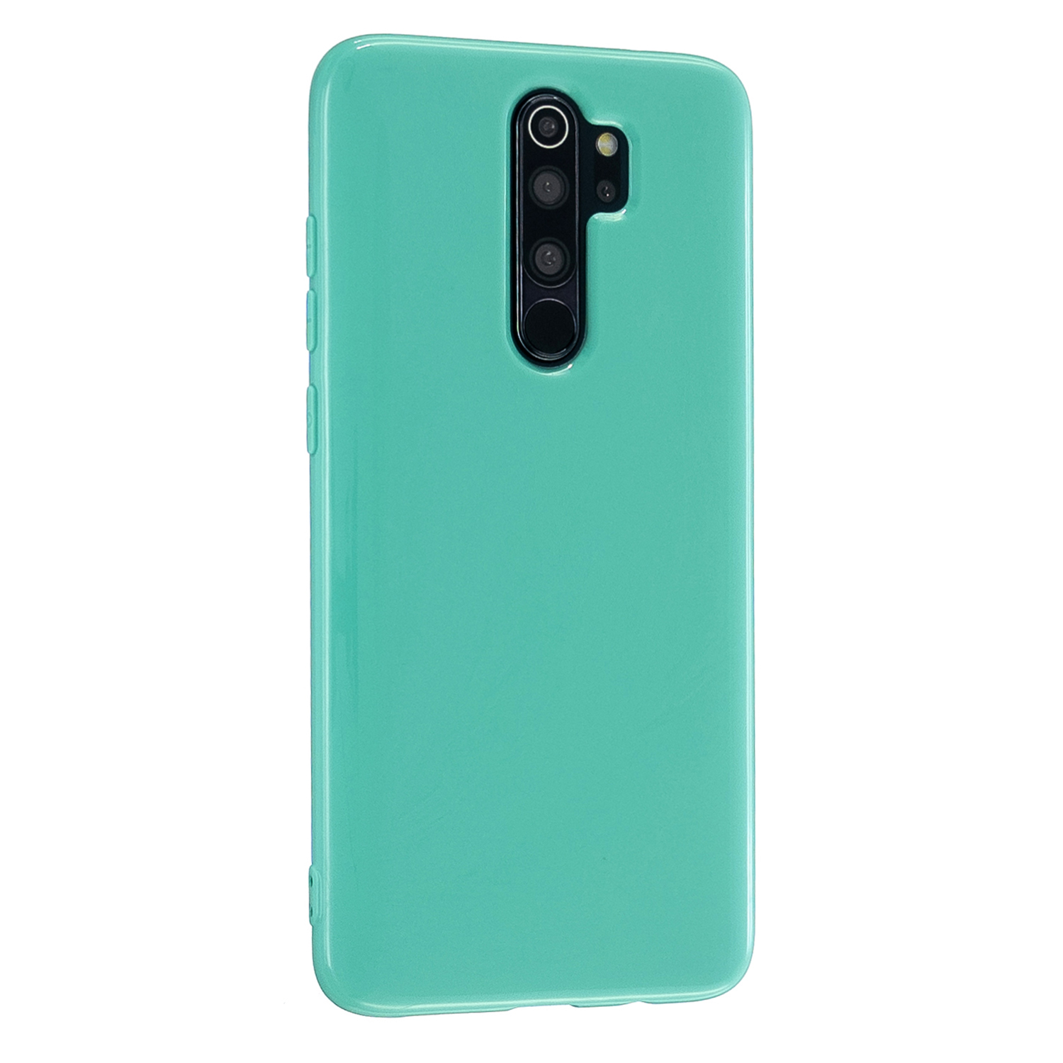 For Redmi Note 8/8 Pro Cellphone Cover 2.0mm Thickened TPU Case Camera Protector Anti-Scratch Soft Phone Shell Light blue