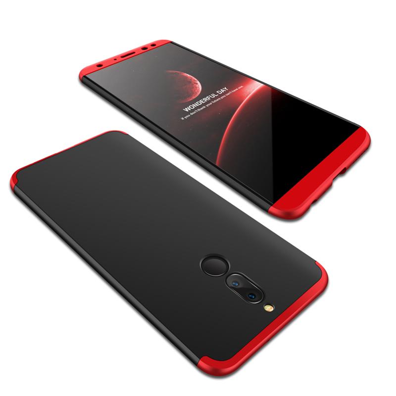 For HUAWEI MAIMANG 6/Mate 10 lite/Honor 9i(india)/Nova 2i Ultra Slim PC Back Cover Non-slip Shockproof 360 Degree Full Protective Case Red black red
