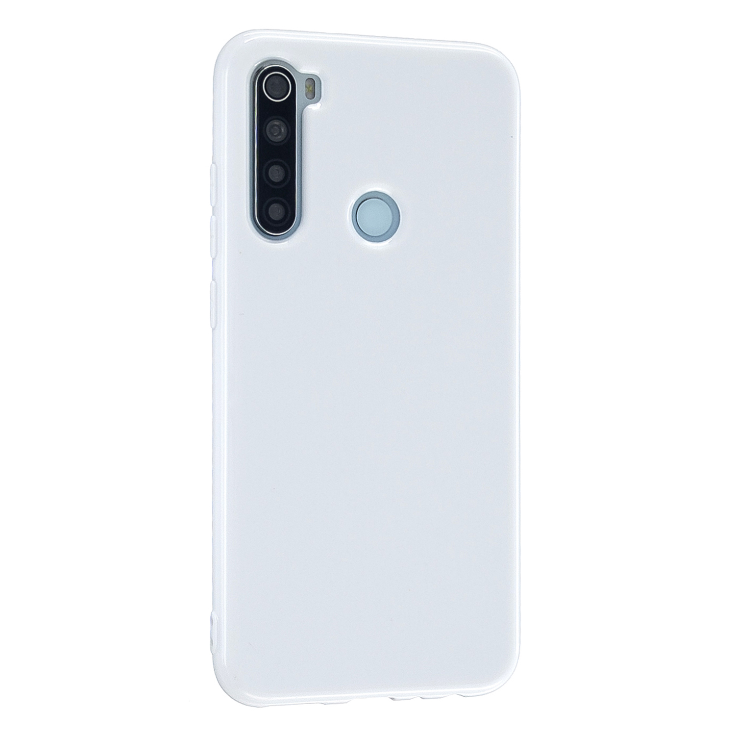 For Redmi Note 8/8 Pro Cellphone Cover 2.0mm Thickened TPU Case Camera Protector Anti-Scratch Soft Phone Shell White