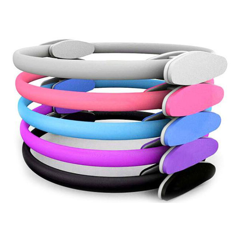 Pilates Yoga Ring Full Body Training Stretching Fitness Equipment Exercise Circle Gym Home for Women Men Pink
