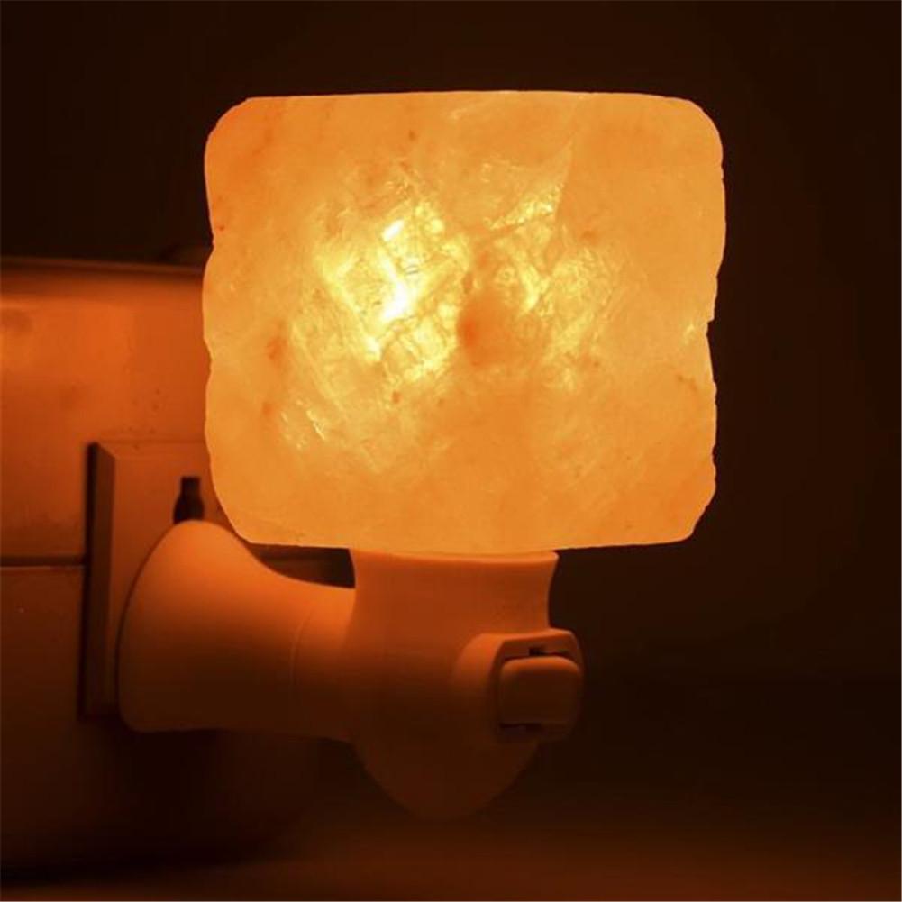 [US Direct] Himalayan Salt Lamp Natural Crystal Salt Wall Light For Lighting Decoration Square