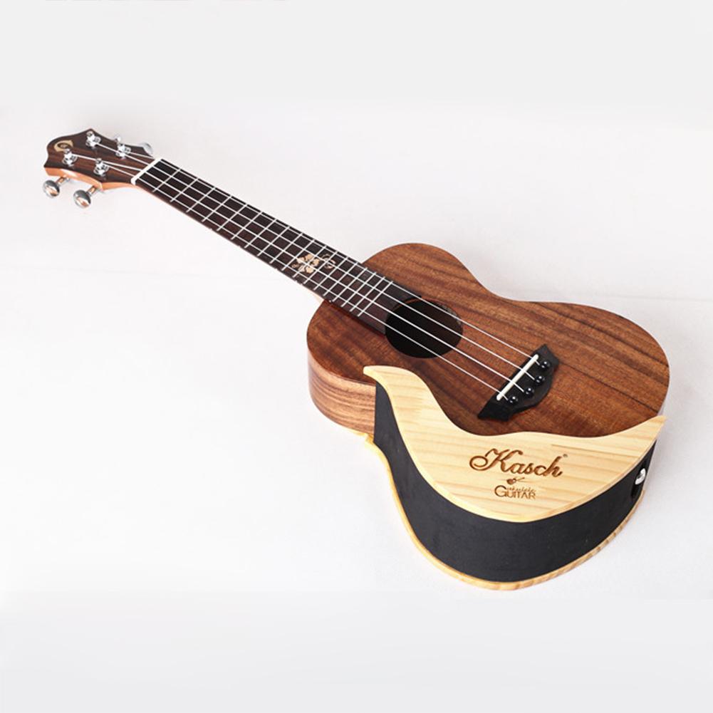 Simple Elegant Wooden Ukulele Wall Holder Small Guitar Display Stand (left)