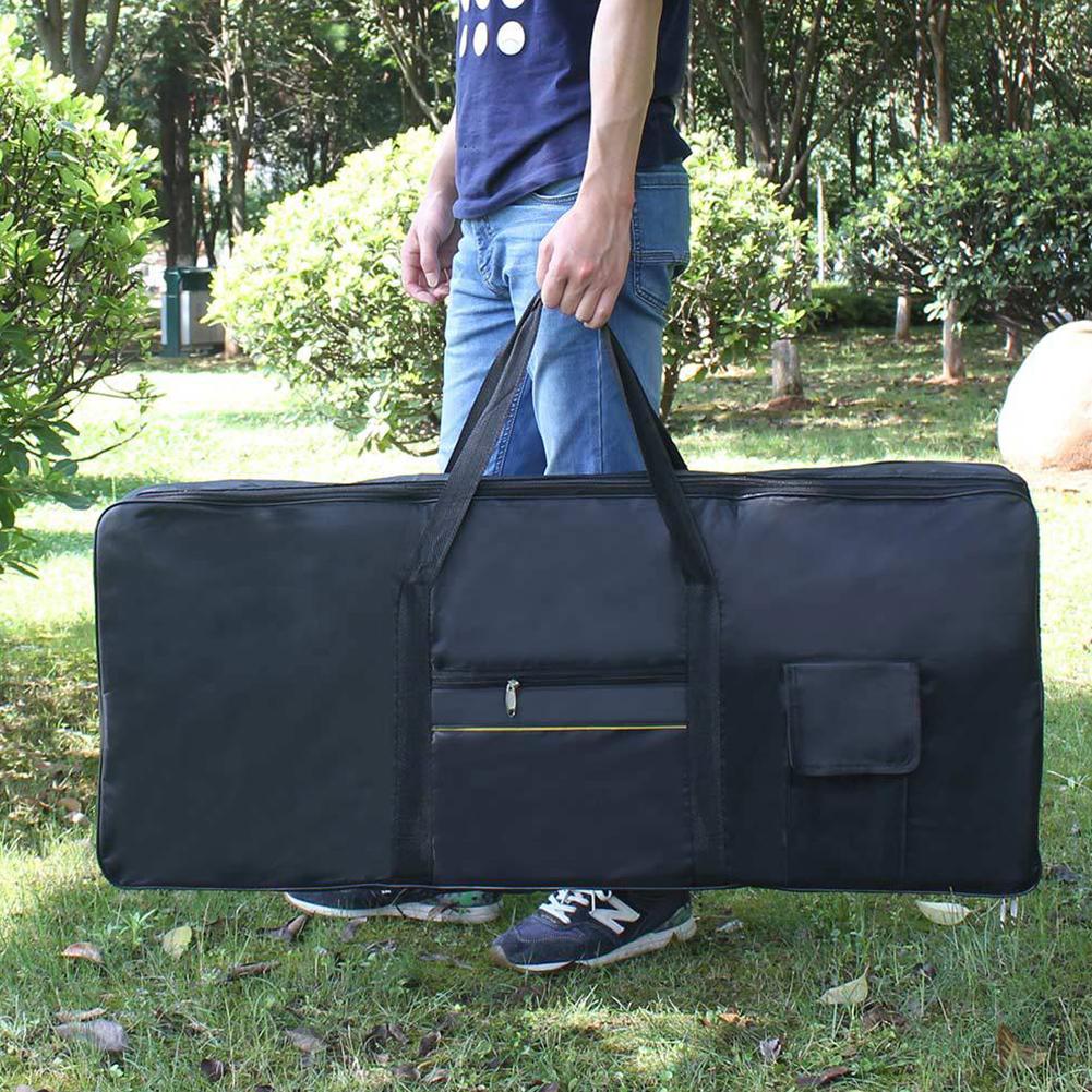Portable 61-keys Electronic Piano Waterproof Bag black
