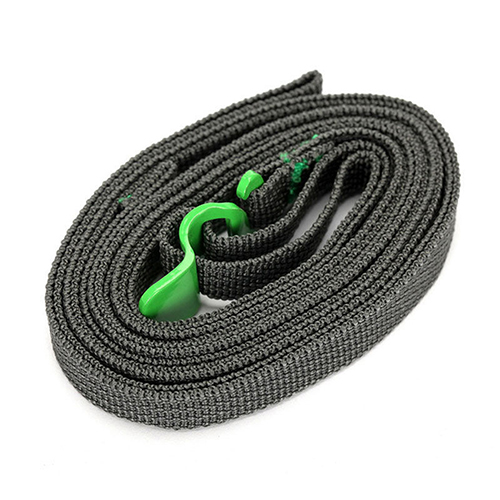 Quick Unfasten Outdoor Travel Equipment Luggage Webbing Strapping Stainless Steel Belt with Hook green
