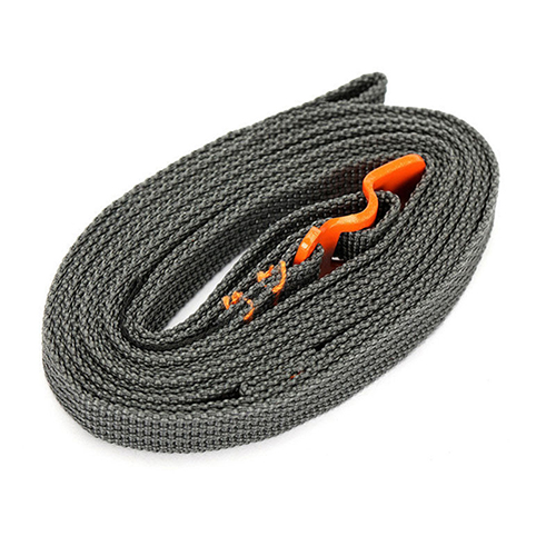 Quick Unfasten Outdoor Travel Equipment Luggage Webbing Strapping Stainless Steel Belt with Hook Orange
