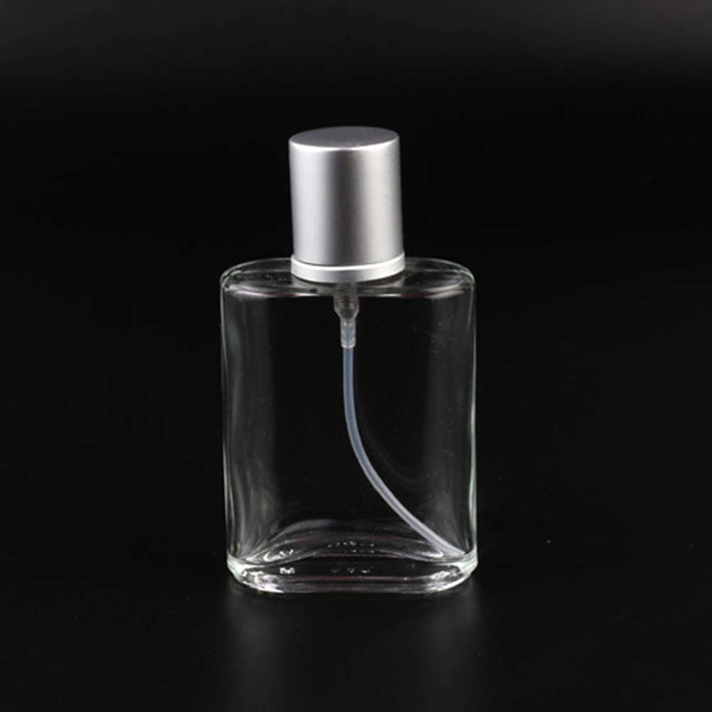 30ml Refillable Perfume Glass Spray Bottle Portable Travel Automizer Empty Cosmetic Container 30 ml clear grey