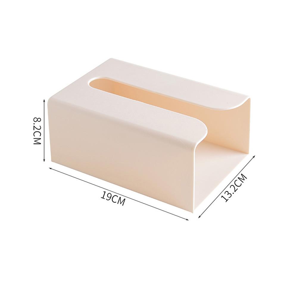 Tissue Box Paper Towel Holder Storage Box Tissue Napkin Container apricot