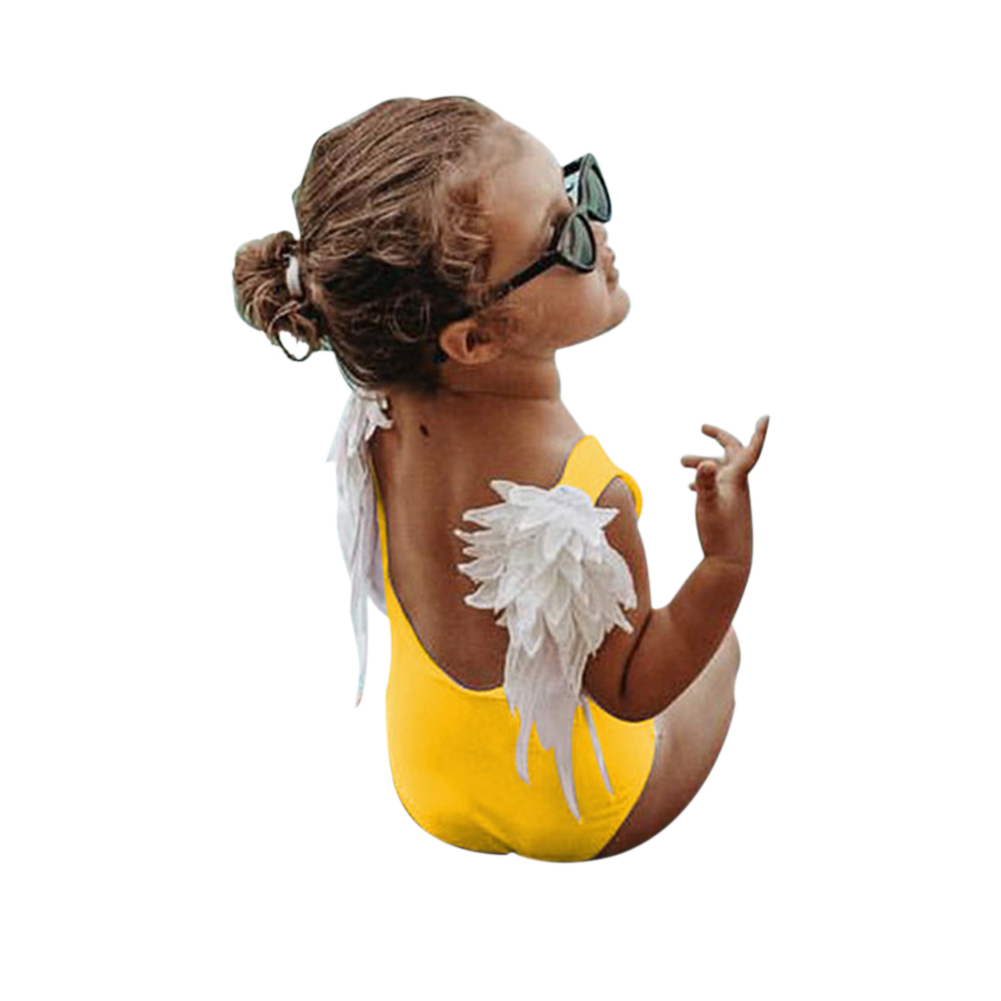 Fashion Angel Wings Parent Child Swimsuit Holiday Beach Outfits