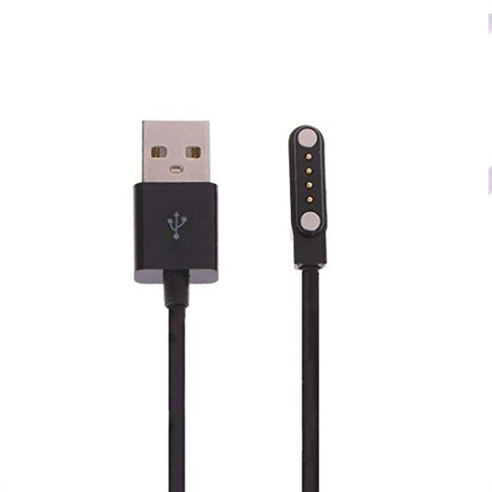 USB Charging Cable Smart Watch Fast Charger Adapter Replacement Magnetic Charging Cables USB Wire Power Adapter  black