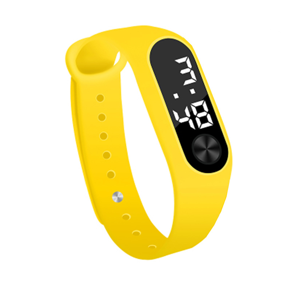 Simple Watch Hand Ring Watch Led Sports Fashion Electronic Watch yellow