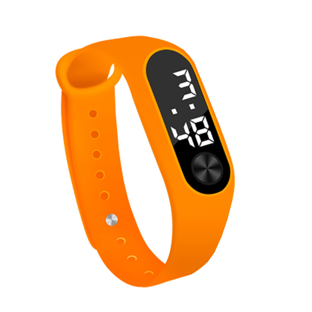 Simple Watch Hand Ring Watch Led Sports Fashion Electronic Watch Orange