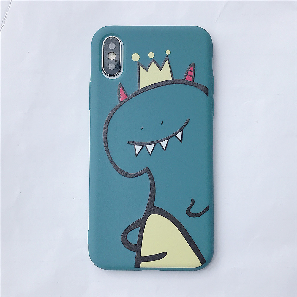 For VIVO Y66/Y67/Y91/Y95/Y93/Y97/V15/S1/Y83/Y85/Z3/Z3I/V11I/Z5X/Z1 Pro TPU Cellphone Case Shell Dinosaur Back Cover blue