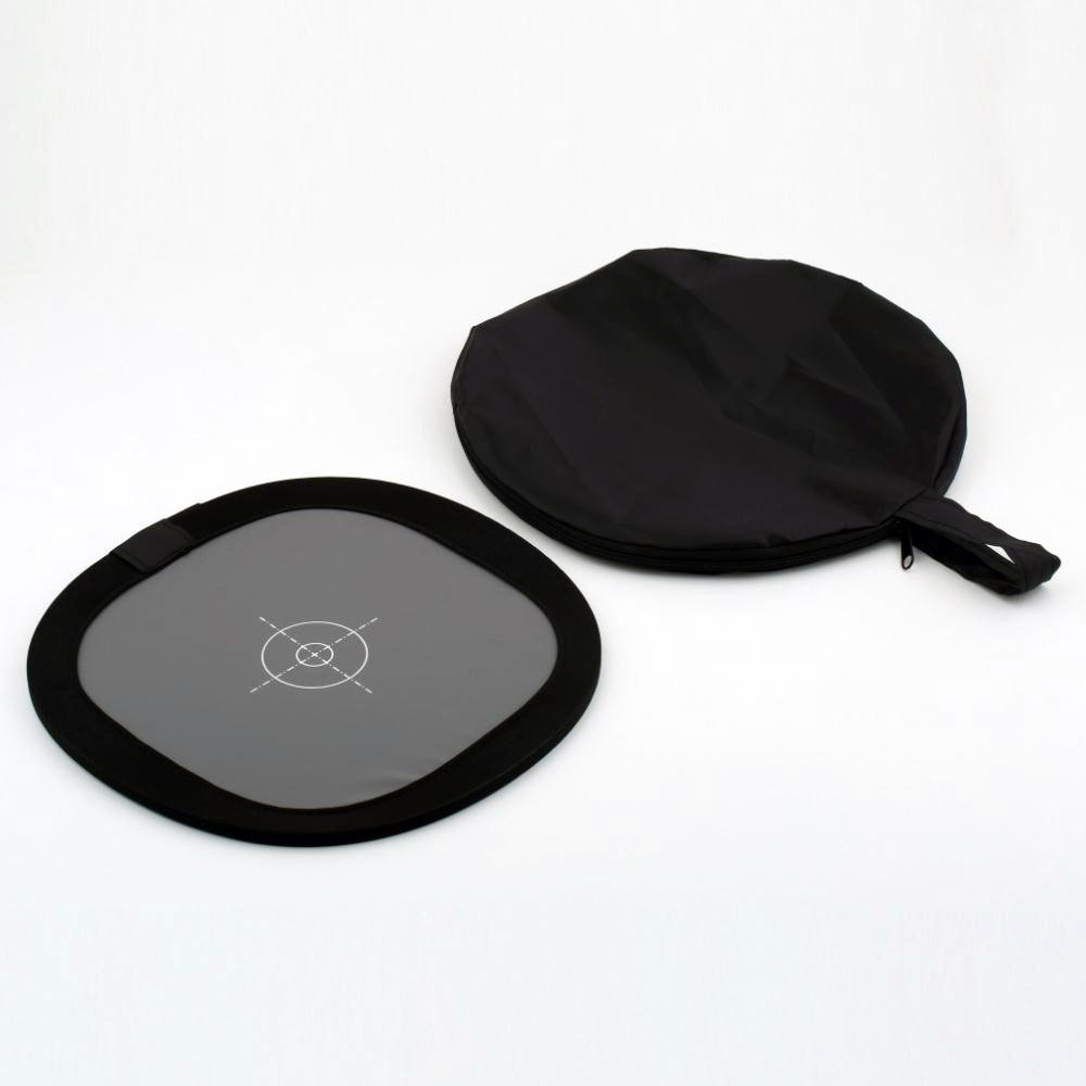 30cm 18% Foldable Gray Card Reflector White Balance Double Face Focusing Board with Carry Bag