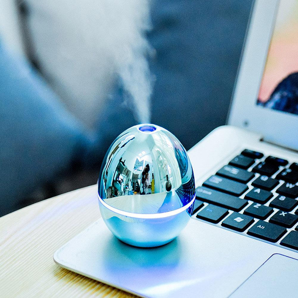 Egg Shape Air Humidifier Mini USB Car Aromatherapy Humidifier for Desktop Home Office blue