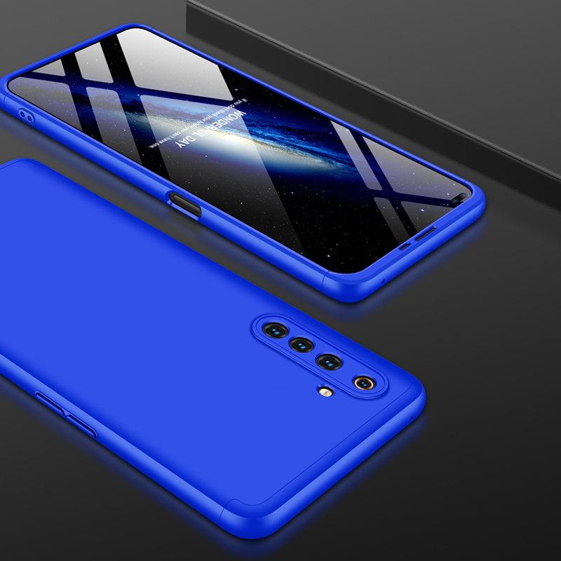 For OPPO Realme 6 Pro Cellphone Case PC Full Protection Anti-Scratch Mobile Phone Shell Cover blue